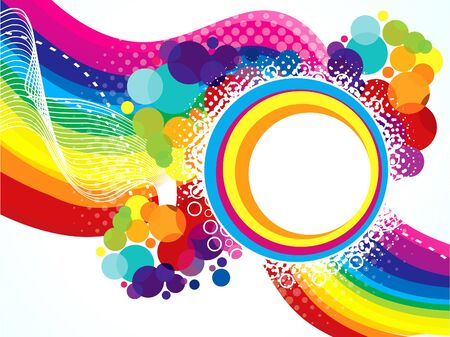 concepts and ideas: abstract artistic colorful rainbow explode illustration