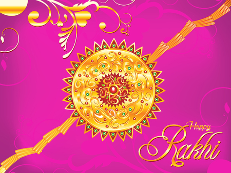 bahan: abstract artistic raksha bandhan background illustration Illustration
