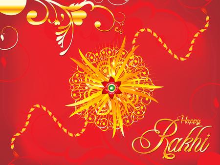 bhai: abstract artistic detailed red rakhi background illustration Illustration