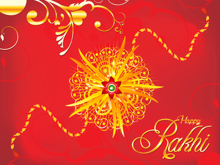 abstract artistic detailed red rakhi background illustration Illustration