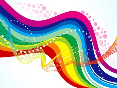 abstract rainbow: abstract artistic rainbow wave background illustration