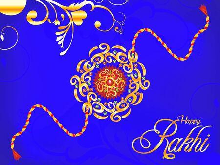 bhai: abstract artistic rakhi background illustration