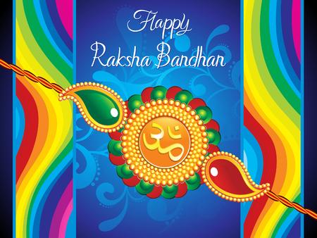 abstract artistic raksha bandhan background illustration Illustration