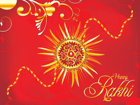 bhai: abstract artistic red rakhi background illustration