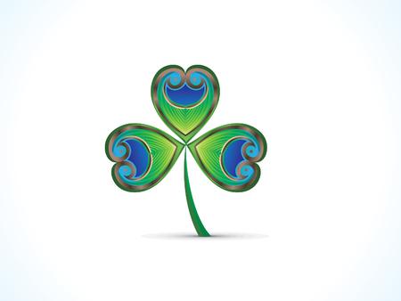 abstrakten künstlerischen St. Patricks Day Klee Illustration