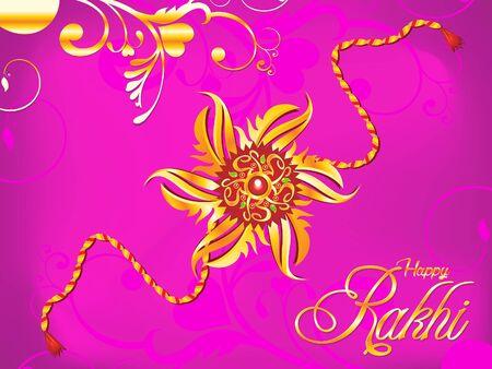 bhai: abstract artistic raksha bandhan rakhi illustration