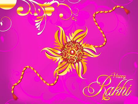 abstract artistic raksha bandhan rakhi illustration