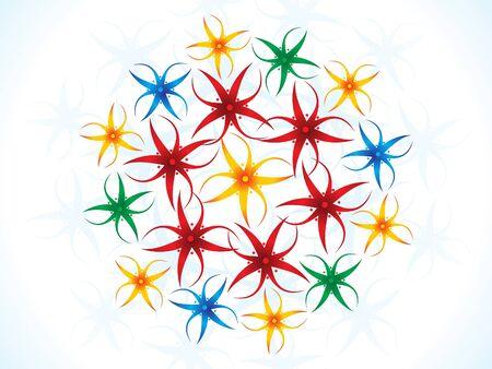 artístico flores de colores ilustración
