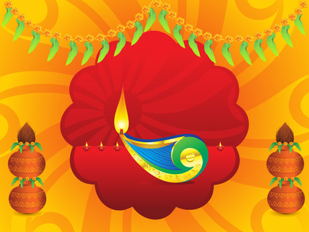 abstract artistic indian celebration background vector illustration