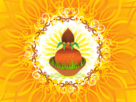 mangal: abstract navratra background vector illustration Illustration