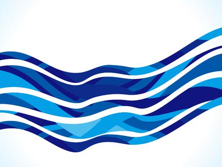 lineas decorativas: artístico abstracto de la onda azul de fondo ilustración vectorial