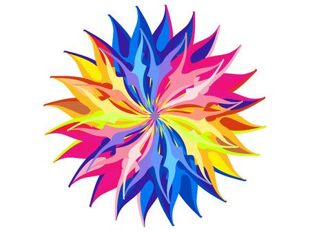 rainbow circle: abstract artistic rainbow circle background vector illustration