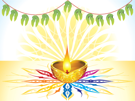 kalasha: abstract artistic detailed celebration background vector illustration Illustration