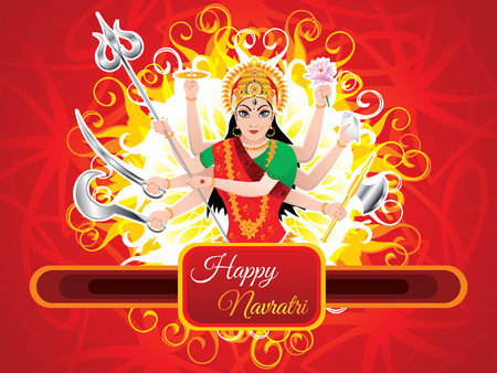 mangal: artistic detailed durga background vector illustration Illustration