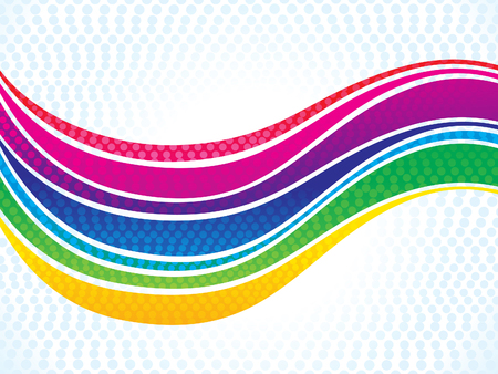 curve creative: abstract artistic colorful rainbow wave vector illustration