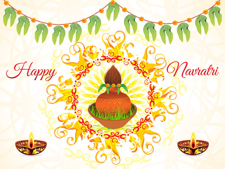mangal: abstract artistic navratri background vector illustration