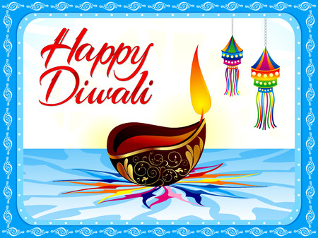 mangal: abstract artistic diwali background vector illustration