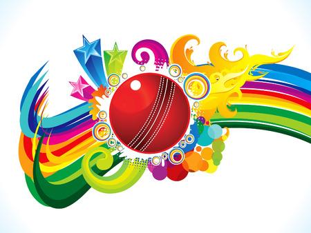 abstract artistic burning cricket ball background vector illustration