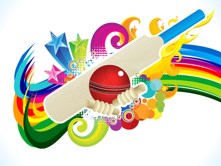 shots: abstract artistic cricket background vector illustration