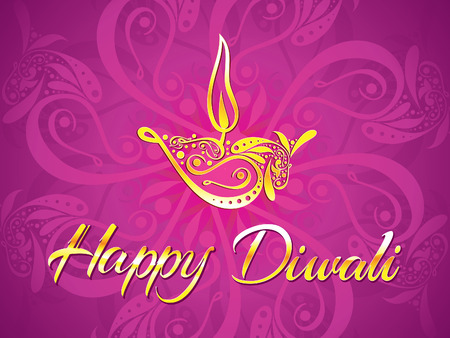 divinity: abstract artistic diwali purple background vector illustration Illustration