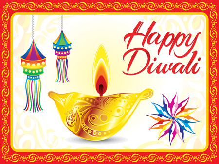 divinity: abstract artistic deepawali background vector illustration