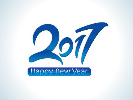 almanac: abstract artistic blue new year vector illustration