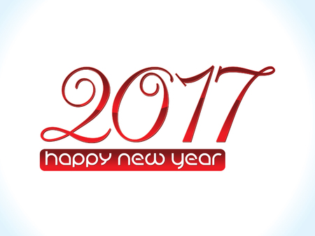 almanac: artistic red glossy new year text vector illustration