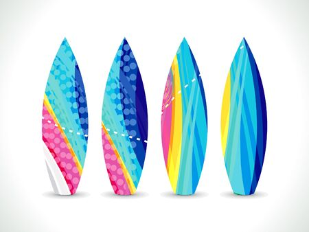 swims: abstract artistic colorful surf board vector illustration