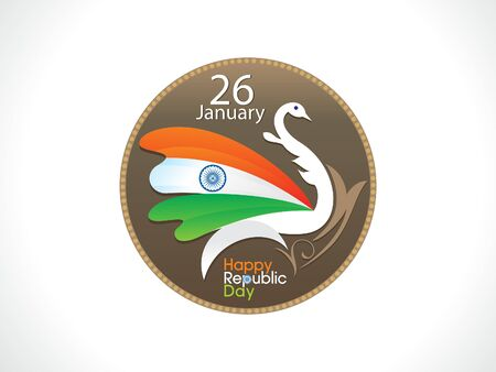 republic: abstract artistic indian republic day background vector illustration Illustration