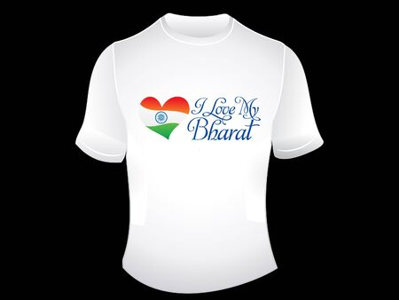 bharat: i love my bharat tshirt vector illustration