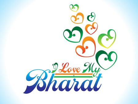 bharat: abstract artistic indian heart background vector illustration