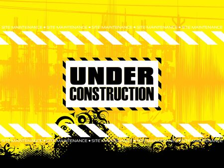 black boards: Abstract yellow under construction black pattern vector illustration
