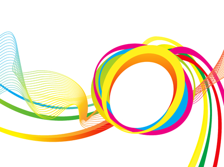 curve creative: abstract artistic colorful wave vector illustration