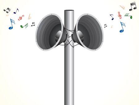 loud: abstract artistic loud speaker background vector illustration