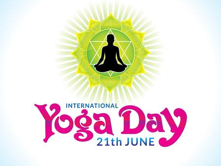 yogi: abstract artistic yoga day background vector illustration