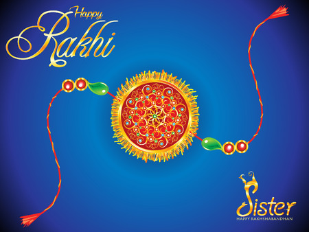 abstract golden rakhi background vector illustration