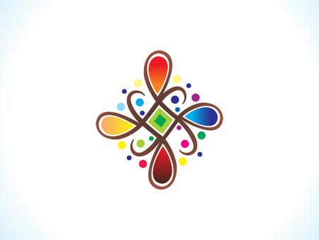 abstract artistic colorful rangoli vector illustration Stock Vector - 84412721