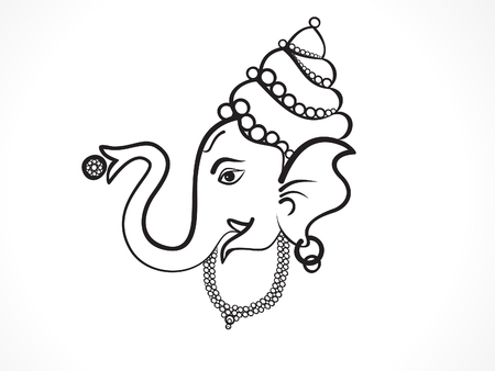 Abstract artistic ganesha background vector illustration Illustration