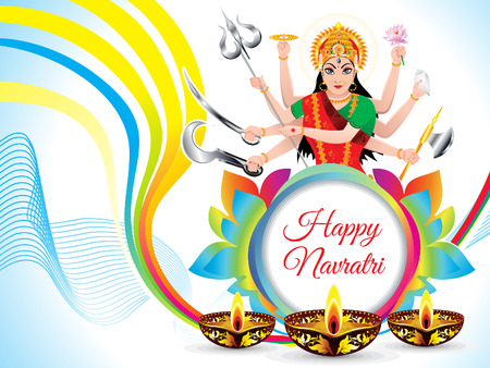 Abstract artistic navratri background vector illustration.