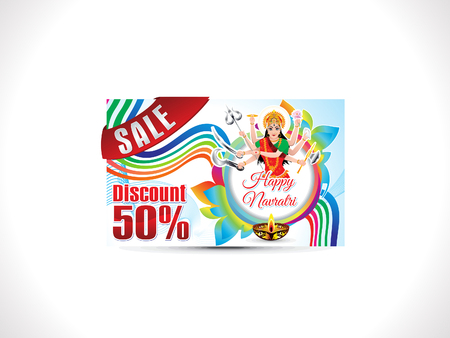diwali celebration: abstract artistic creative navratri discount card vector illustration