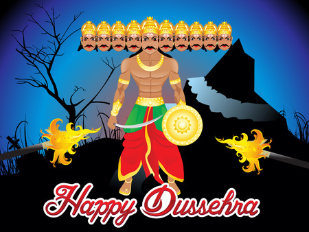 Abstract artistic Dussehra