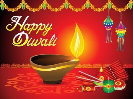 abstract artistic diwali background vector illustration
