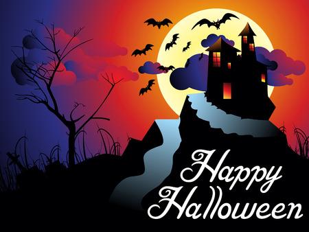 abstract artistic halloween background vector illustration Stock Photo