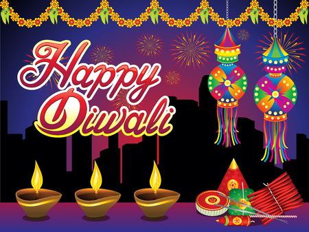 Abstract artistic creative Diwali night background vector illustration.