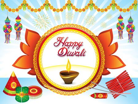 Abstract artistic creative Deepawali background vector illustration.