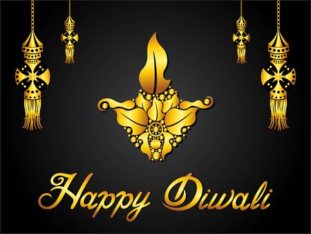 abstract artistic creative golden diwali background vector illustration