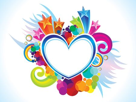 Abstract artistic creative colorful heart explode vector illustration