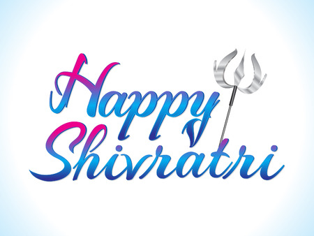 Abstract artistic Happy Shivratri text vector illustration.