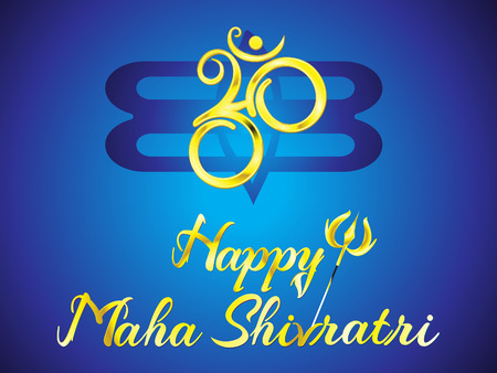 abstract artistic creative golden shivratri text vector illustration