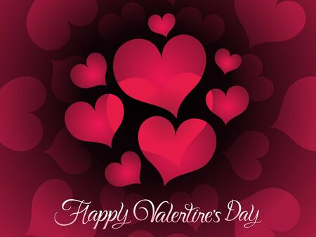 abstract artistic creative valentines day  vector illustration Illustration